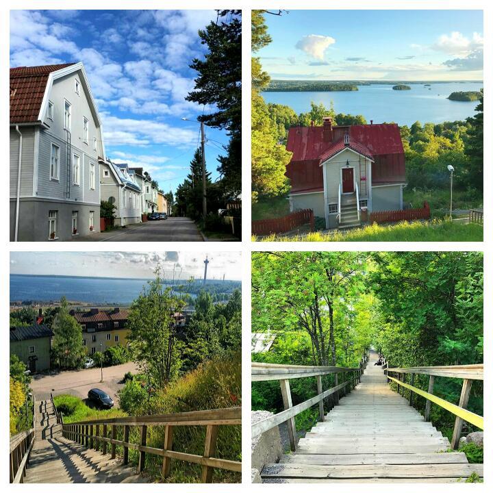 Tampere'nin ilçesi Pispala dan manzara resimleri