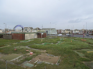 Crazy Golf course at Starr Gate in Blackpool. Photo by Philip Walsh, 23rd September 2017