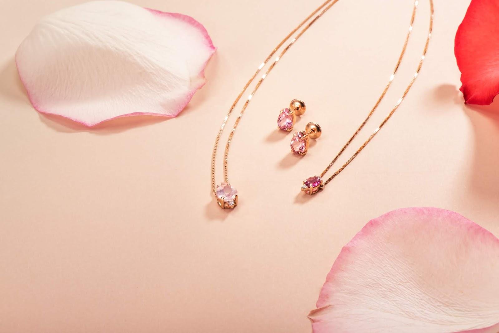 acessórios da coleção spring rose da loja joias gold