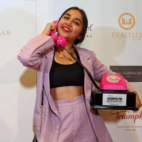 Prajakta Koli won Fiama Comopolitian Bloggers Awards 2019
