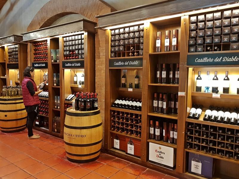 Loja de vinhos Concha y Toro Santiago