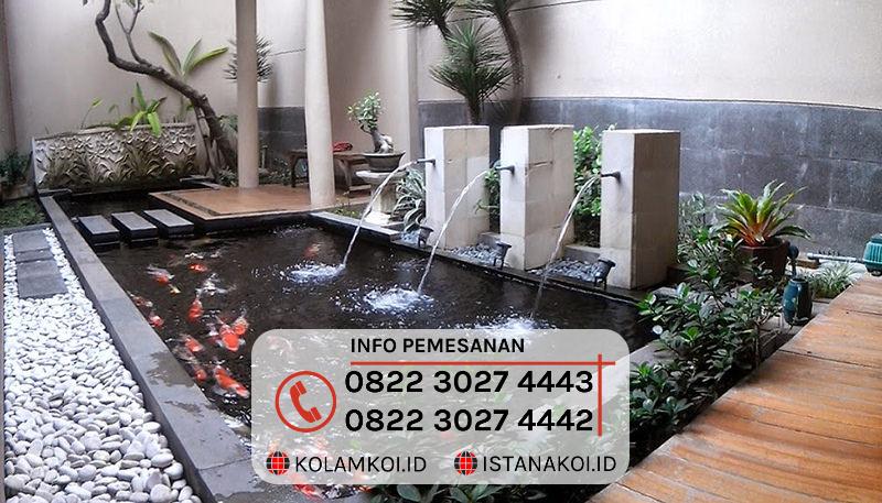 Kolam Ikan Koi Sederhana Design Minimalis di Singkawang