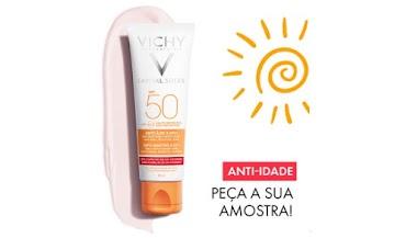Página da Vichy de Portugal está enviando Amostra Grátis de seu produto