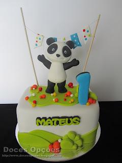 O Panda no 1º aniversário do Mateus