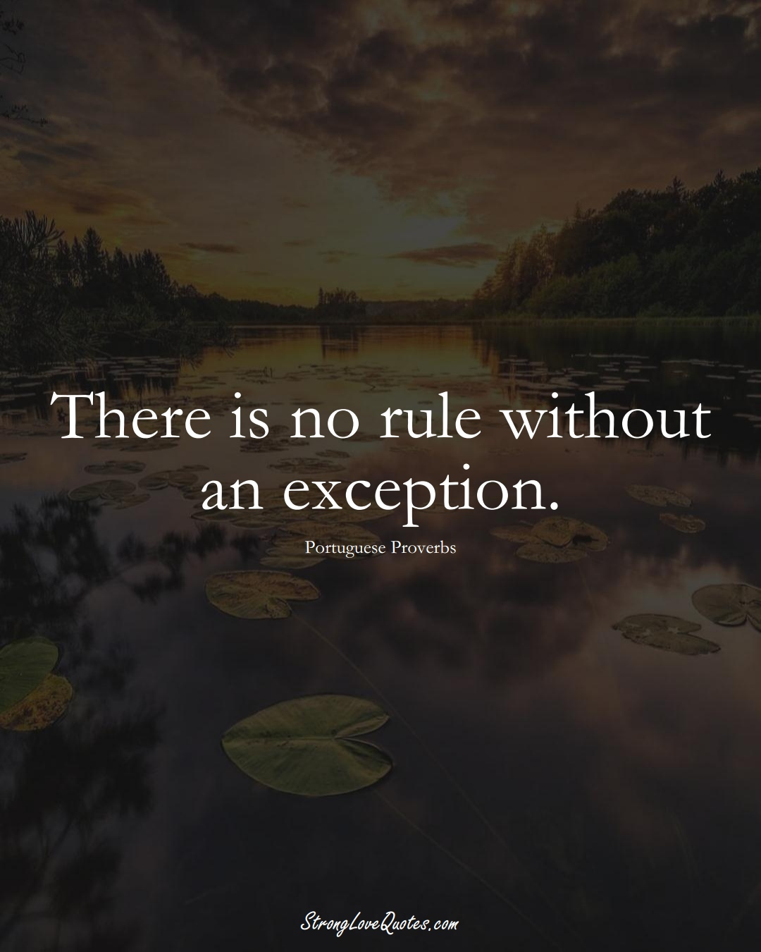 There is no rule without an exception. (Portuguese Sayings);  #EuropeanSayings