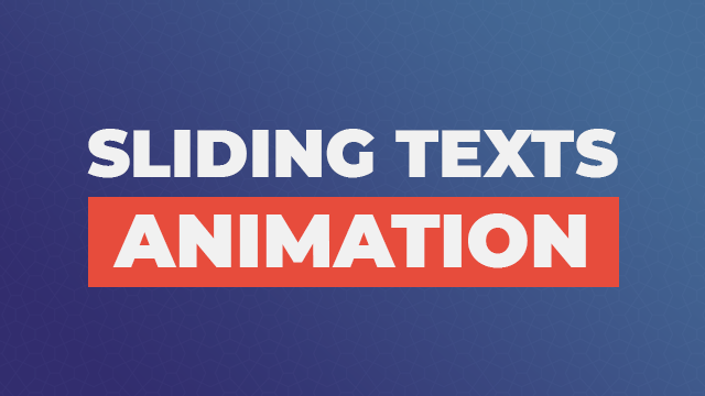 Sliding Texts Animation Using Only HTML & CSS