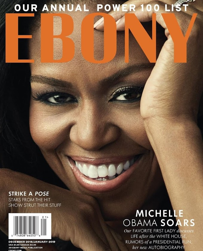 Michelle Obama is the Cover Star for EBONY Magazine's 2018 Power 100 Issue