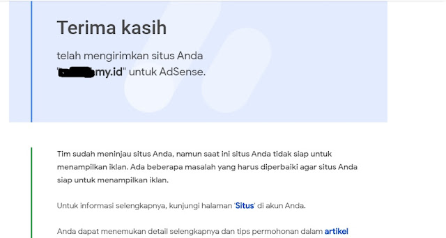 domain my.id ditolak adssite