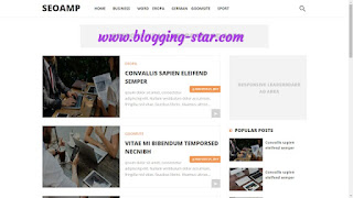 AMP Responsive blogger template