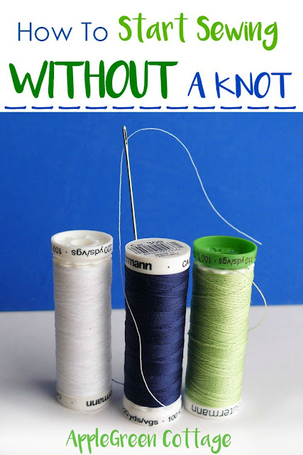 sewing hack for hand stitching