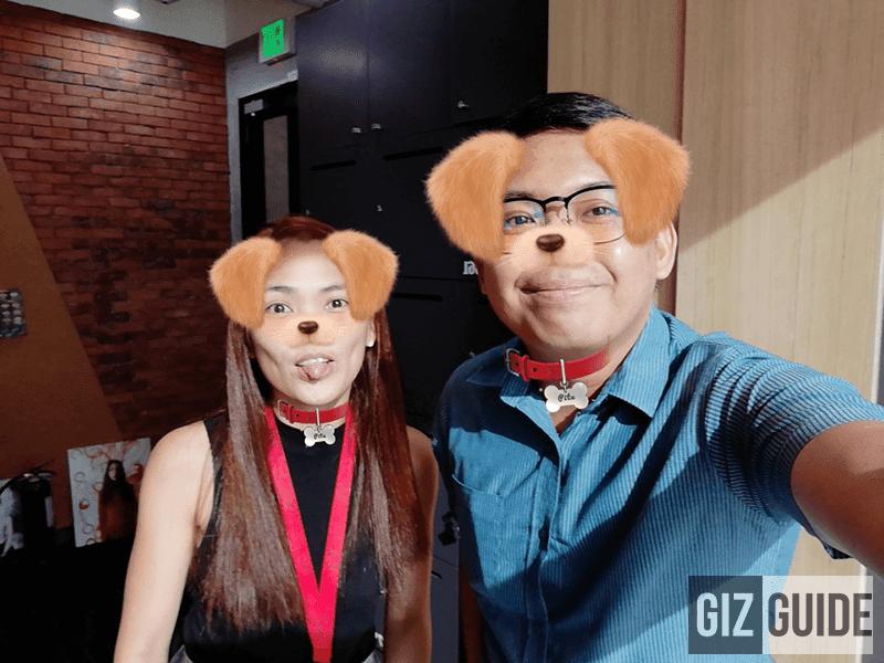Selfie w/ Snapchat-like cute effect