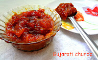 Sweet spicy mango Gujarati pickle