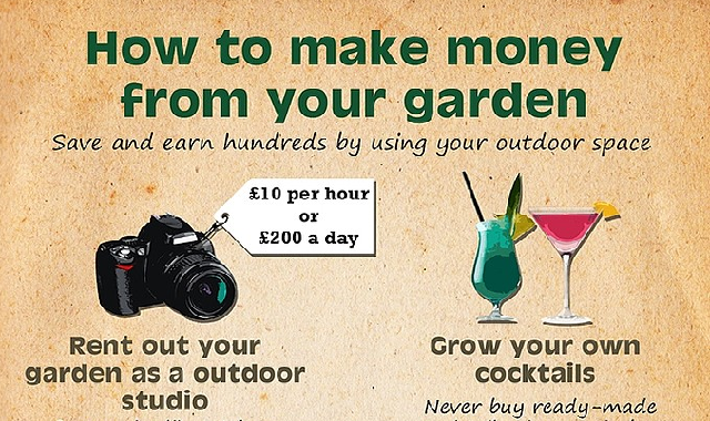 How To Make Money From Your Garden #infographic