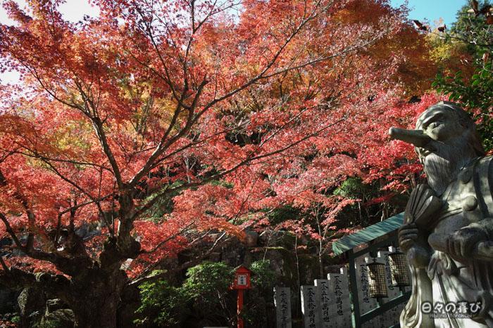 Statue de tengu, temple Daisho-in, Miyajima, Hiroshima-ken