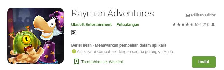 Game Platformer Terbaik untuk Android Rayman Adventur