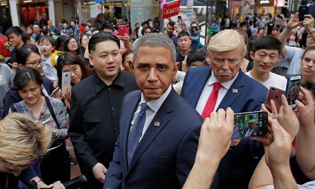 Kim Jong Un And Obama Impersonators