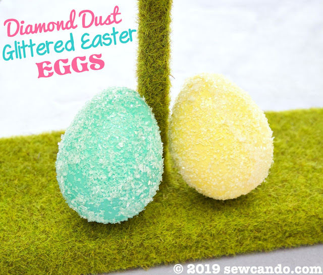 Diamond Dust Glitter Easter Eggs