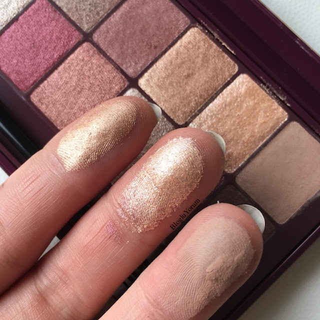 maybelline the burgundy bar far paleti incelemesi swatch 1