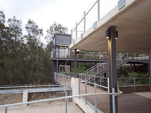 Lifts and platforms at Coal Loader park