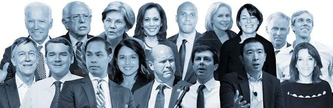 राष्ट्रपति के लिए चल रहे 24 डेमोक्रेट, डिबेट लाइनअप, और बाकी सब Republican Campaign for 2020