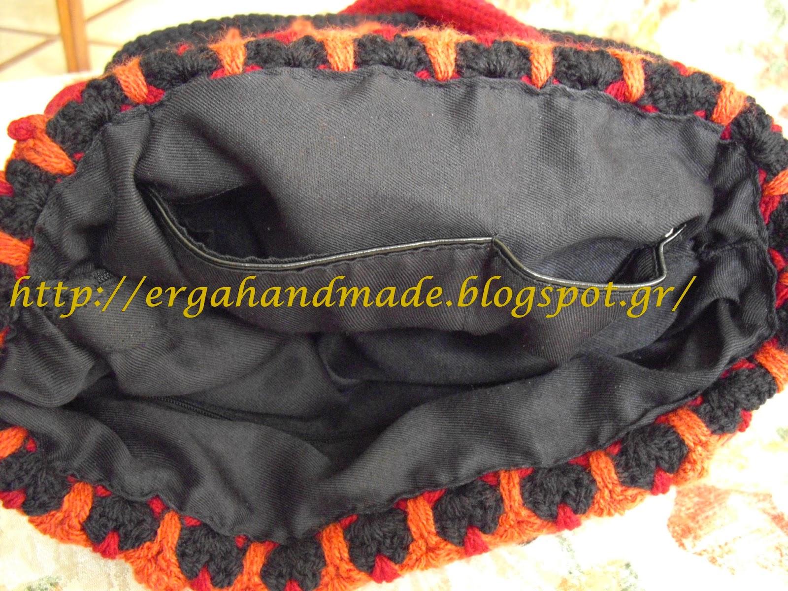 38cd47225df η φόδρα στο εσωτερικό, η οποία διαθέτει, μία πλαϊνή τσέπη με φερμουάρ, μία  κεντρική θήκη πολύ μεγάλη, επίσης με φερμουάρ και άλλη μία πλαϊνή με δύο  τσέπες.