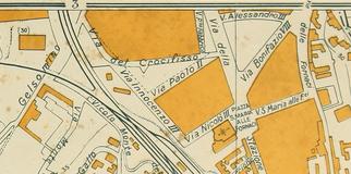 Via del Crocifisso vecchia mappa
