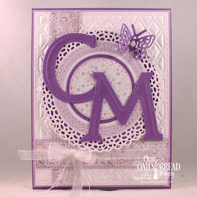 Our Daily Bread Designs Paper Collection: Easter Card 2016, Custom Dies, Letter C, Letter M, Lattice Background, Fancy Circles, Circles, Pierced Rectangles, Double Stitched Circles