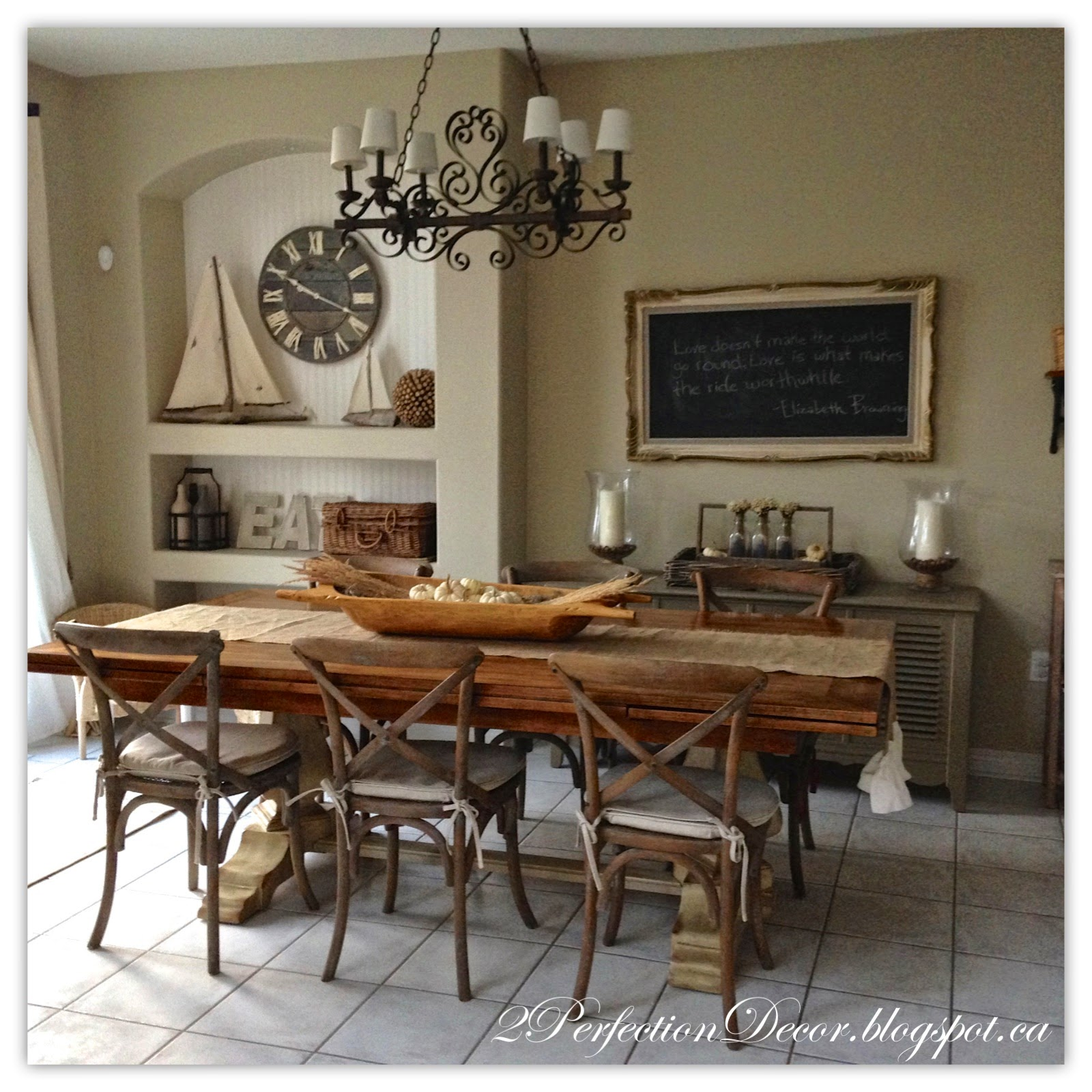 2Perfection Decor: Kitchen Eating Area Reveal