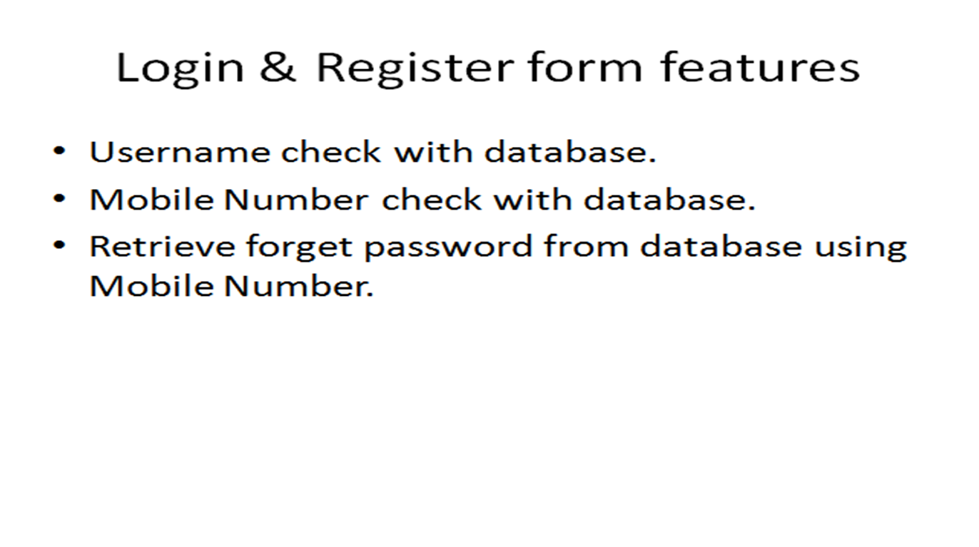 kumaran login and registration forms in c windows 2 normal features