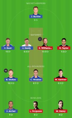 ENG vs NZ Dream11 team