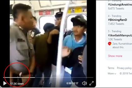 Viral Video Ricuh Sweeping di KRL, Polisi Keluarkan Pistol ke Pelajar