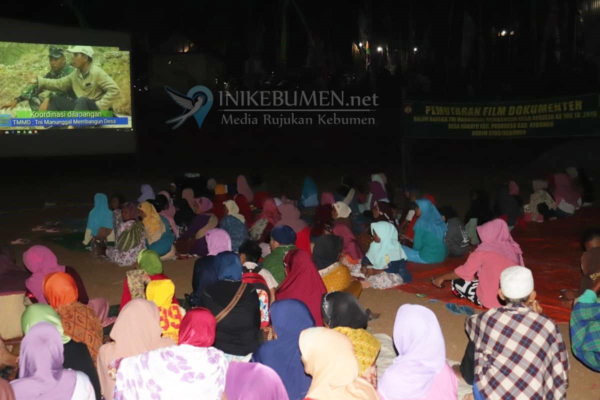 Warga Rahayu Padureso Gelar Nobar Film Panglima Besar Jenderal Sudirman