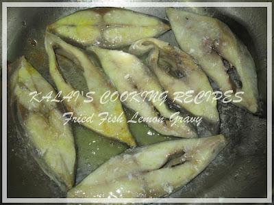 Fried Pomfret Fish Lemon Gravy