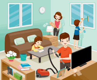 membersihkan rumah bersama-sama www.simplenews.me