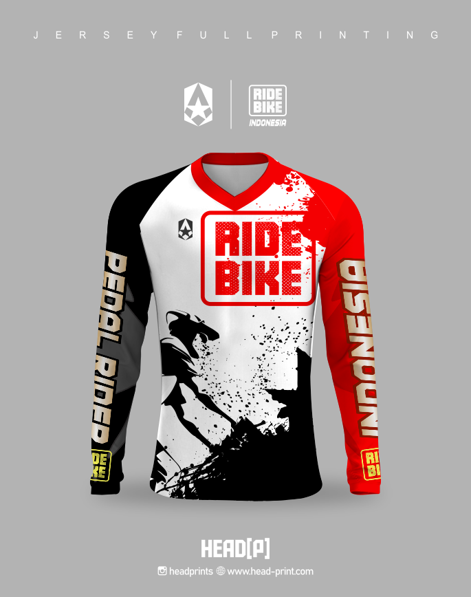 Road Bike Indonesia Jersey Full Printing - Vendor Jersey Jogja