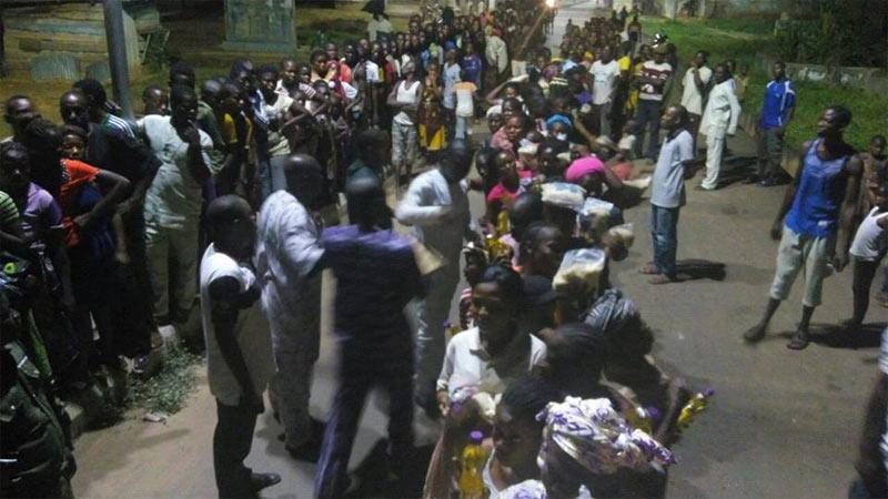 Ekiti residents rally to receive Fayose's stomach infrastructure