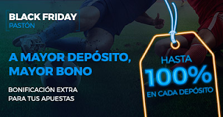Paston Promoción 100 euros bono deposito Black Friday 2017