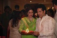 Sachin Tendulkar with his wife at Mata ka Jagrata hosted by Anu Malik 09.JPG