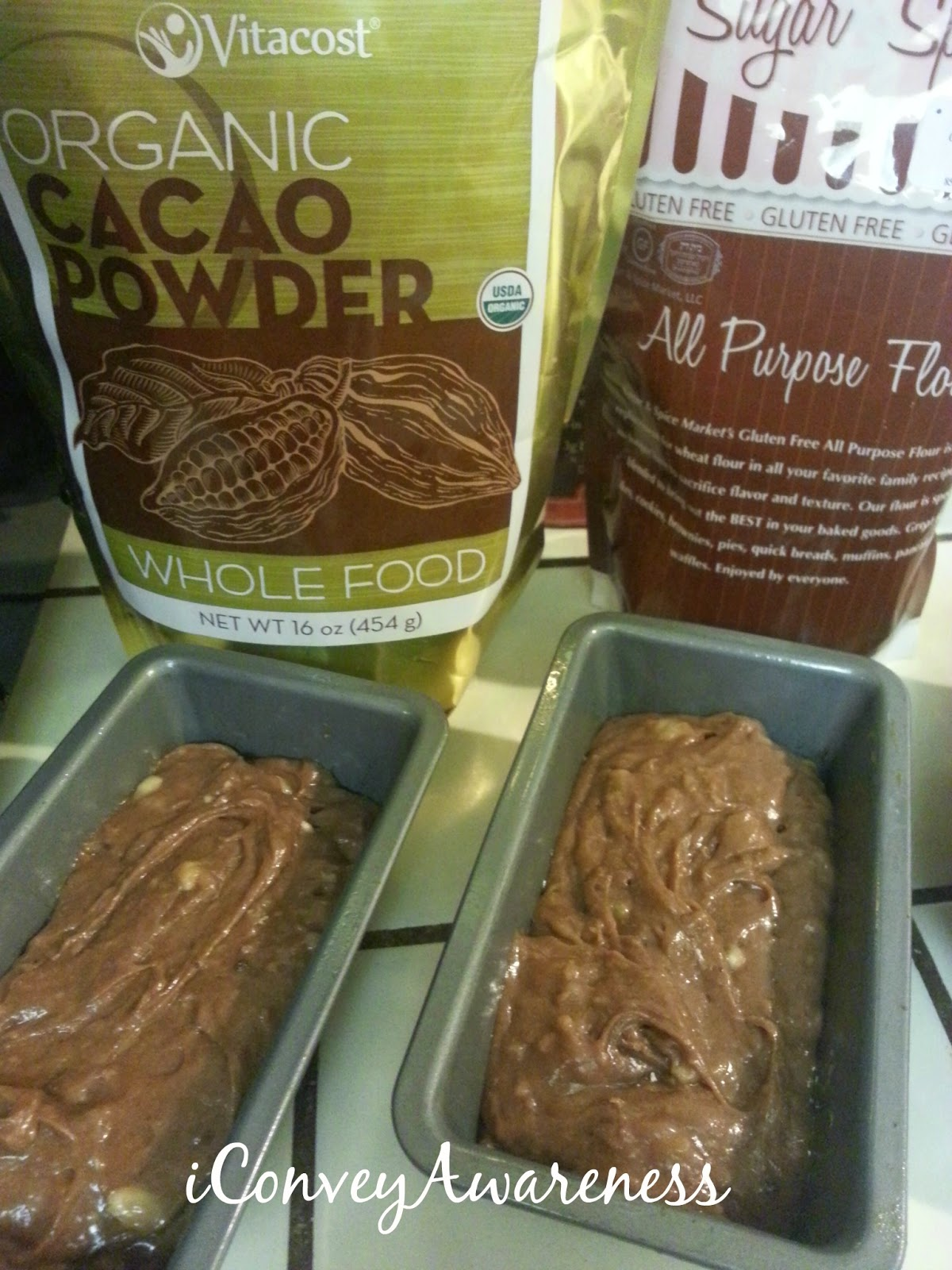 iCA | Chocolate Banana Bread *GF* - Ready for the Oven