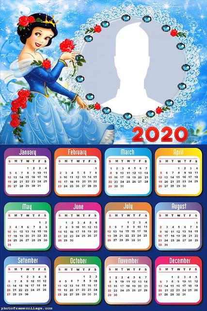 Snow White: Free Printable 2020 Calendar