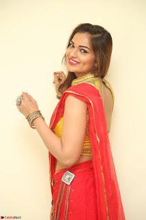 Actress Ashwini in Golden choli Red saree Spicy Pics ~  107.JPG