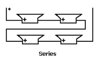 Rangkaian seri 4 speaker