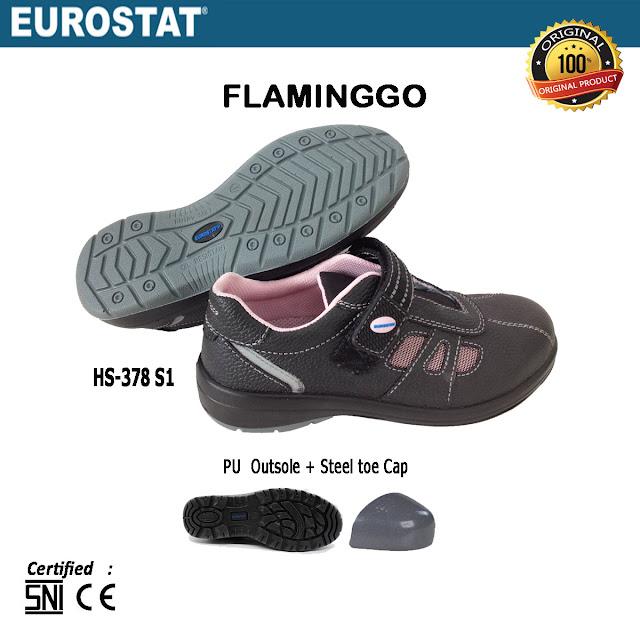 Sepatu Safety Wanita Eurostat Flamingo