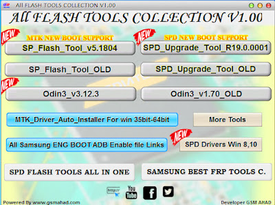 All FLASH TOOLS COLLECTION V1.00, All Smartphone flash collection Free Downloads