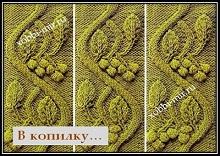 Relefnii uzor dlya vyazaniya spicami shema i opisanie uzora toqish вязання pagniniting neulominen pletení