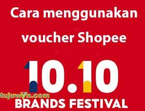 Menggunakan voucher shopee 10.10 brand festival