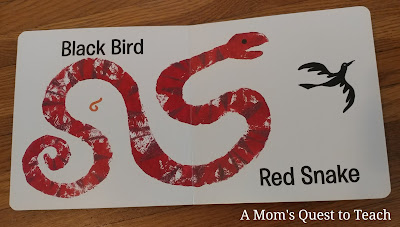 page from inside book - Black Bird Red Snake
