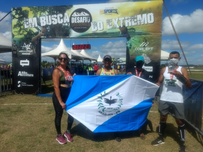 Com apoio da Prefeitura de Araruna atletas participam do Desafio das Serra no RN e conquistam medalhas