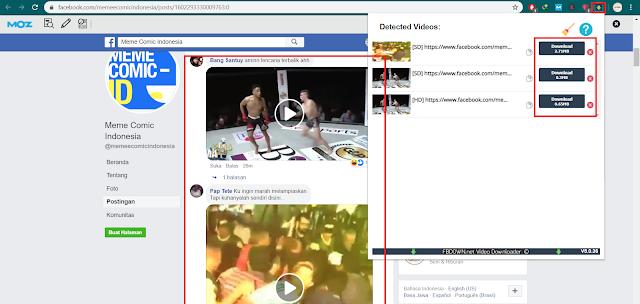 Cara Download Video Di Komentar Facebook PC