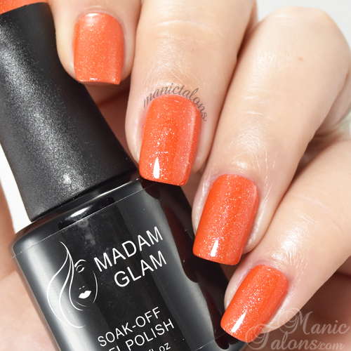 Madam Glam Gel Polish Orange Sunset Swatch